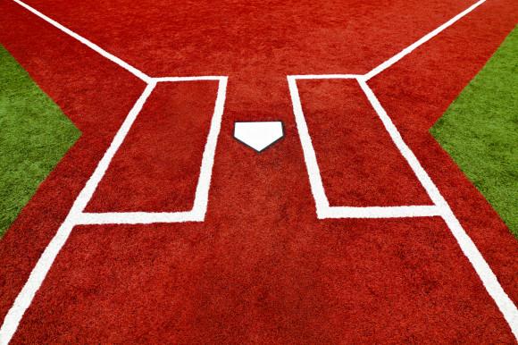 Baseball Home Plate Batter Boxes