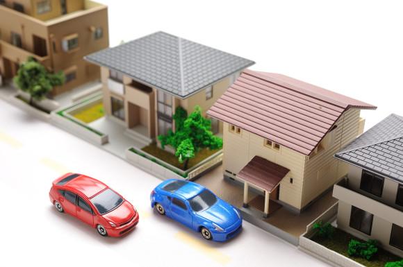 住宅街と道路